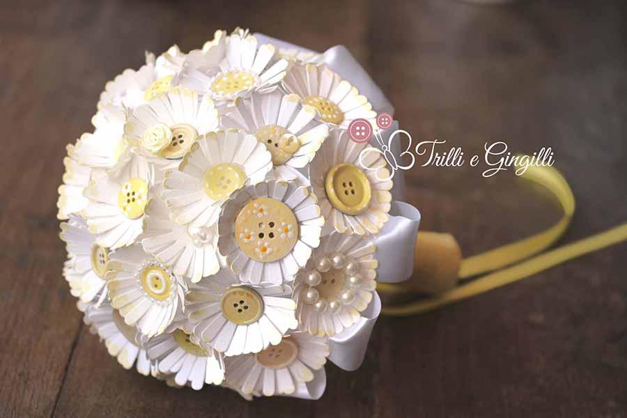 Bouquet Margherite Sposa.Pin Di Jewels Jewels Su Button S Bouquet Fiori Fiori Di Carta