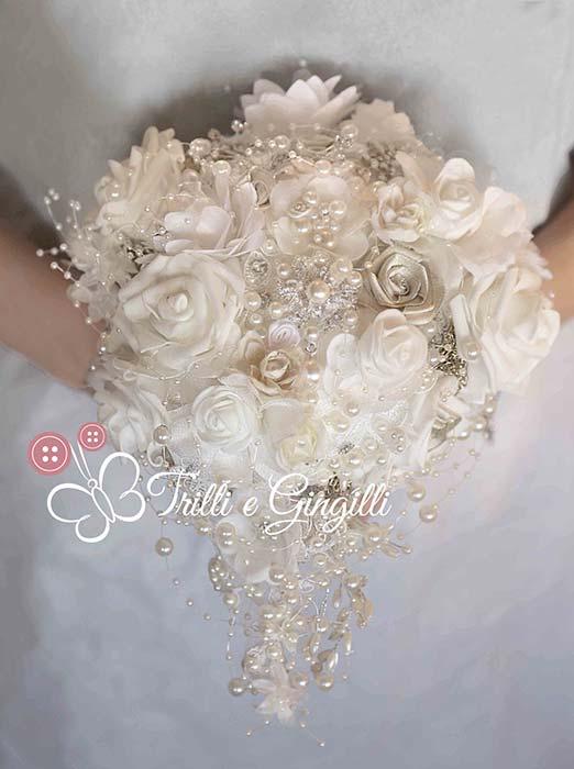 Bouquet gioiello a cascata