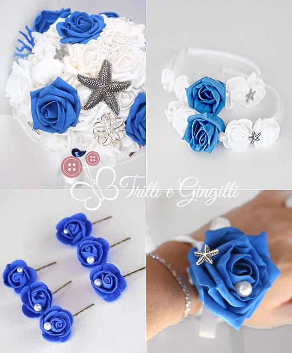 bouquet coordinato nozze accessori