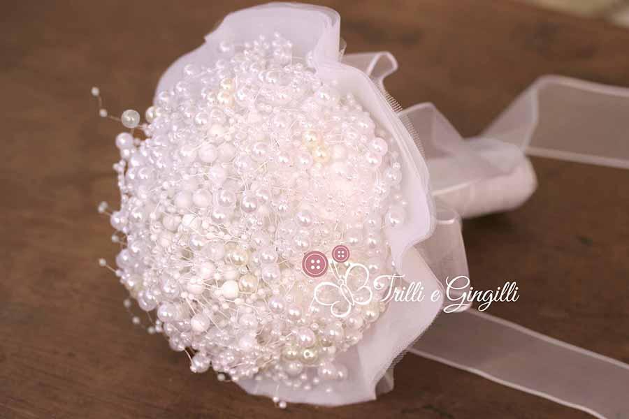 Bouquet gioiello di perle