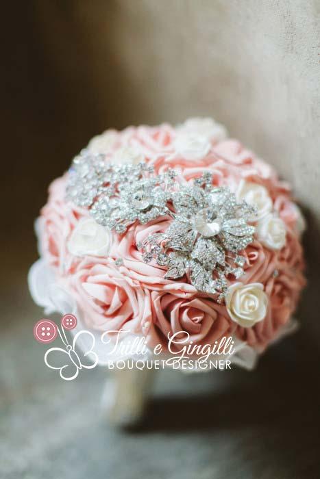 bouquet gioiello rosa