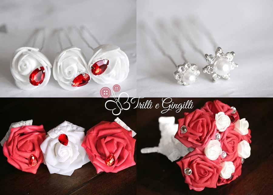 bouquet gioiello con accessori coordinati
