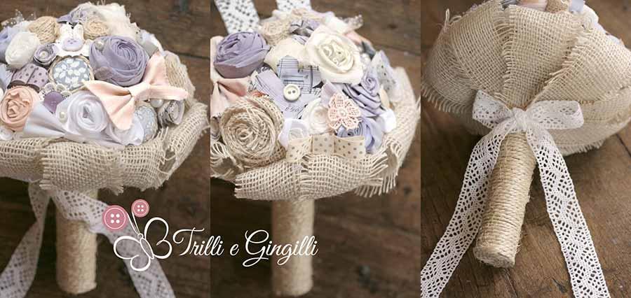 Bouquet viola glicine country chic
