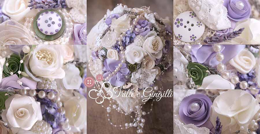 Bouquet lavanda con perle
