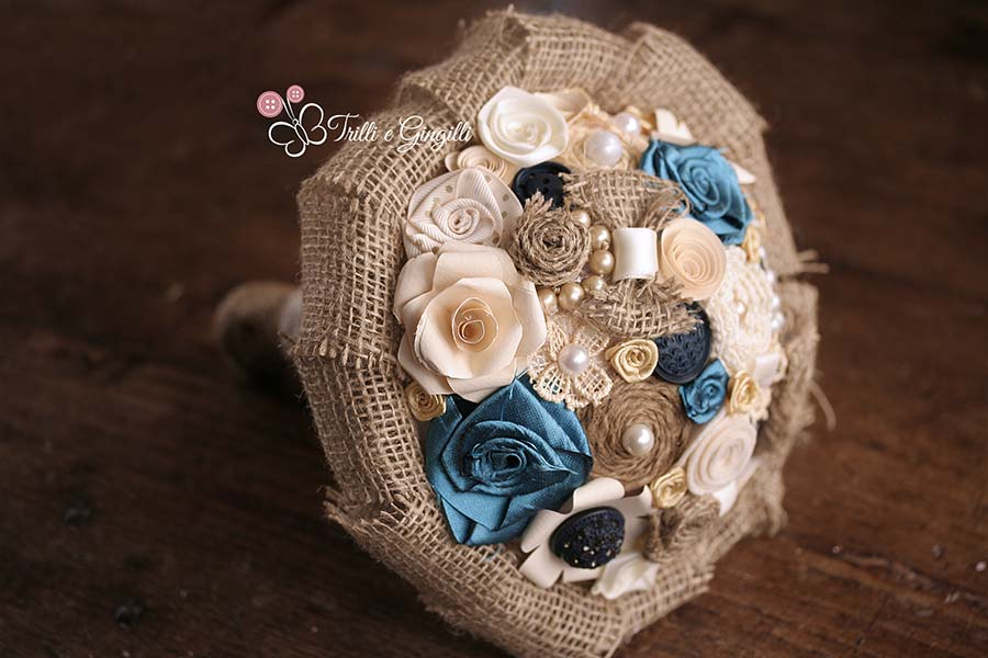 Bouquet country misto blu