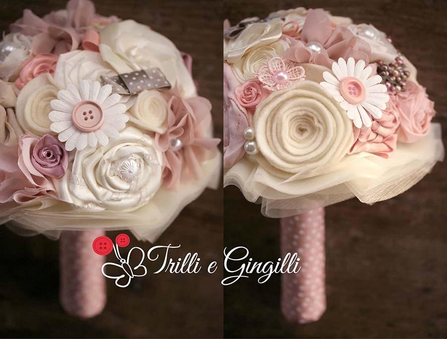 Bouquet misto avorio e rosa