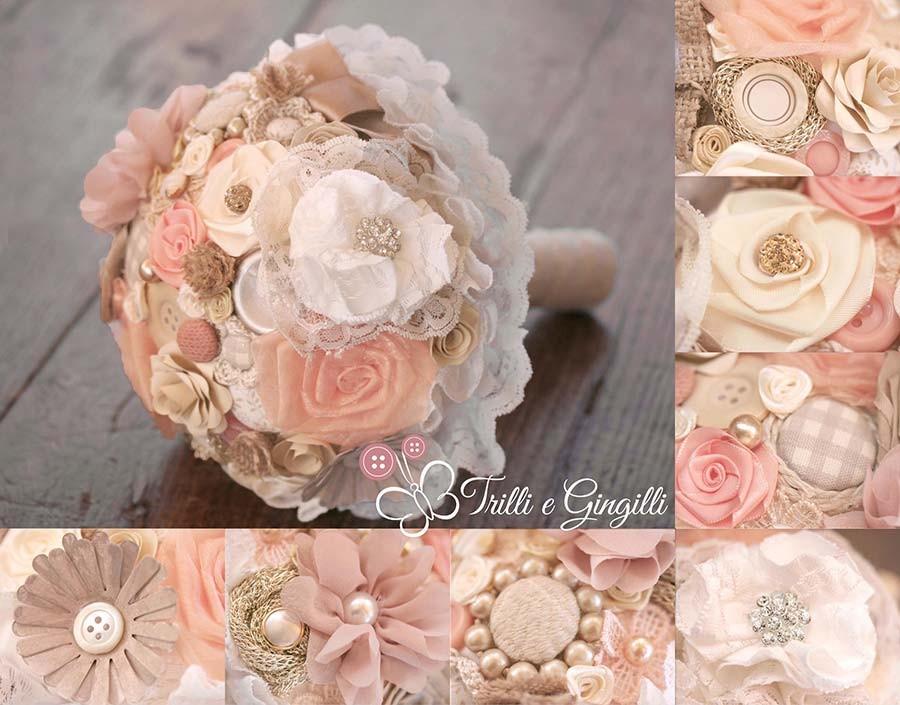 Bouquet misto rosa e pesca