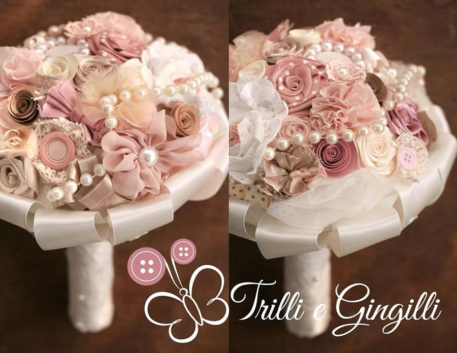 Bouquet rosa shabby chic