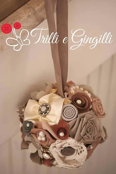 Bouquet a borsetta sferico