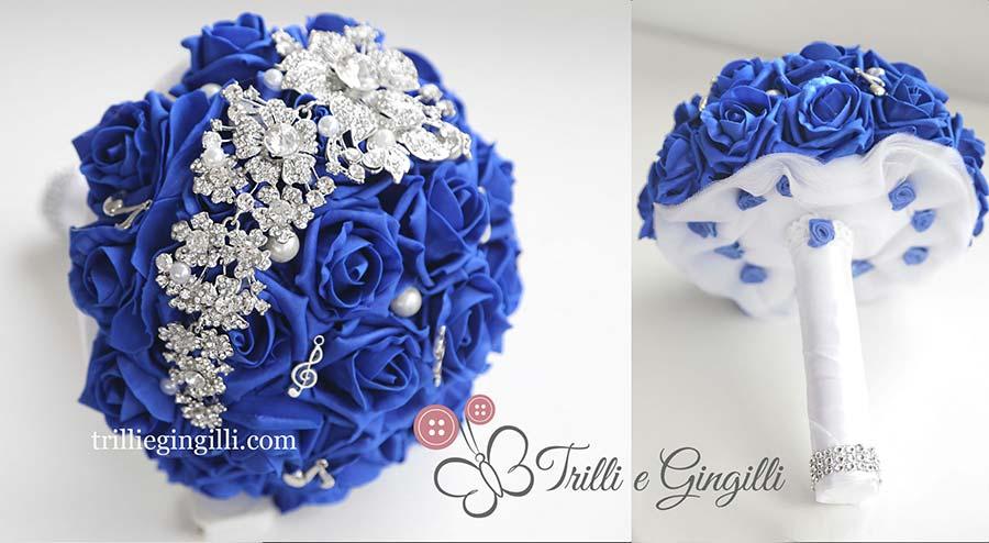 bouquet sposa blu