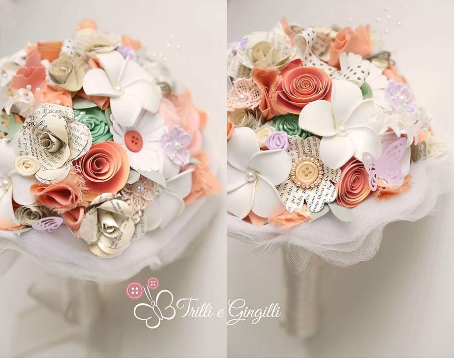 Bouquet Sposa Carta Da Zucchero.Bouquet Misti Realizzati Con Materiali Diversi Di Trilli E Gingilli
