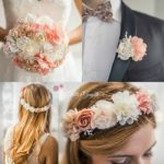 bouquet di stoffa con accessori coordinati