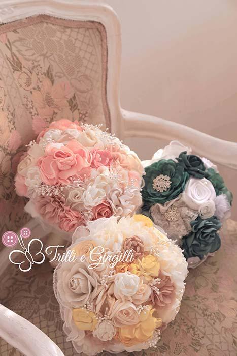 bouquet di stoffa e tessuto
