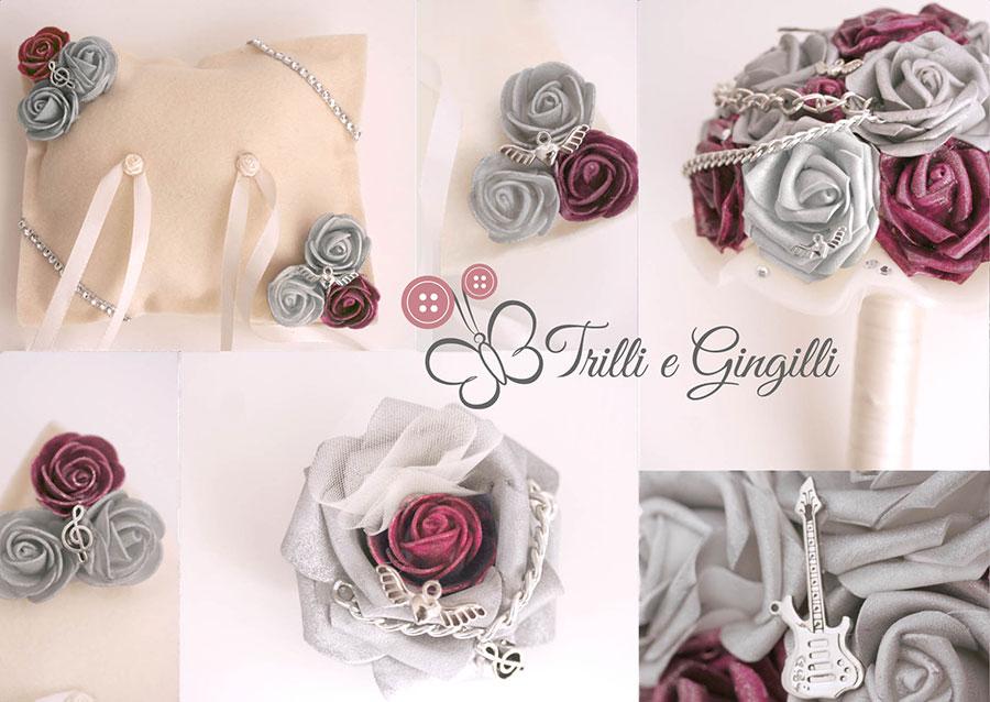 Matrimonio Tema Rockabilly : Un bouquet gioiello per matrimonio a tema musica… rock