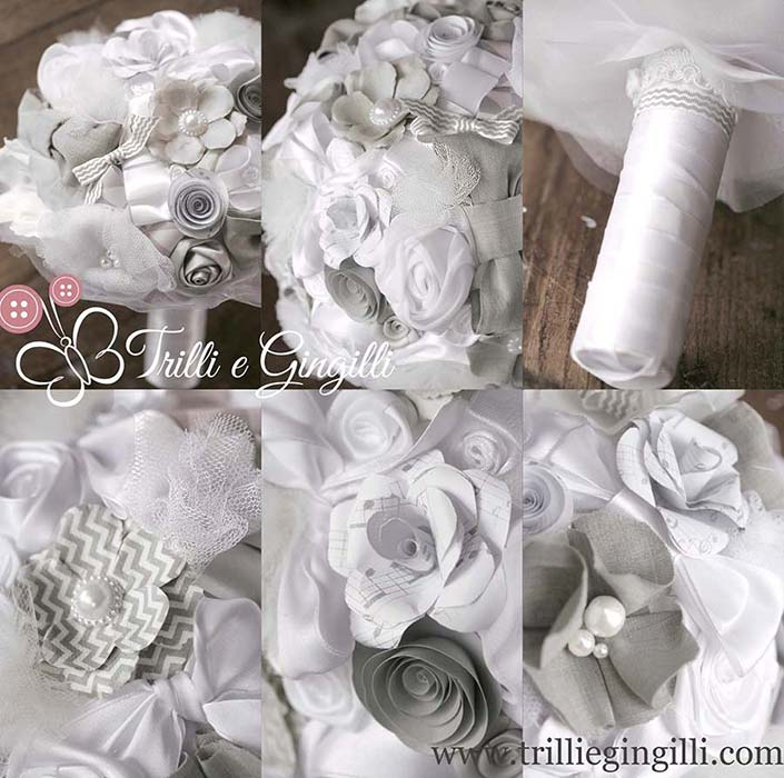 Bouquet a tema musica grigio