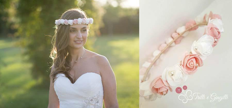 coroncina sposa di rose