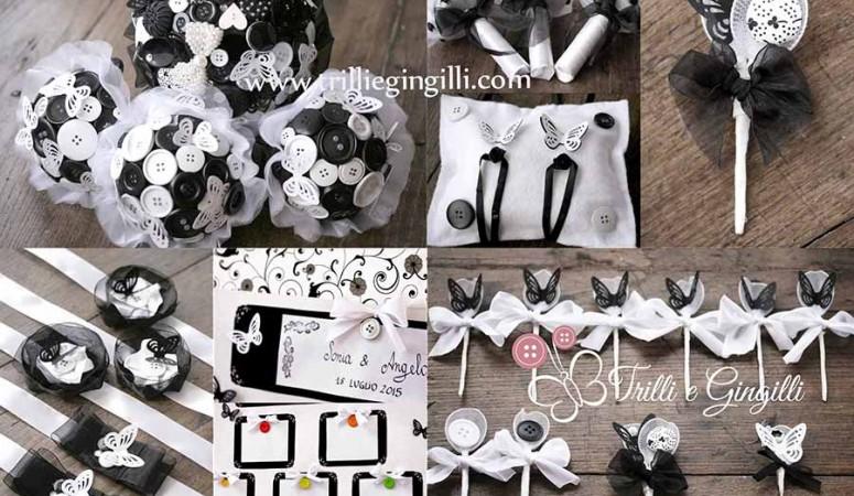 Matrimonio a tema bianco e nero: il set coordinato perfetto!