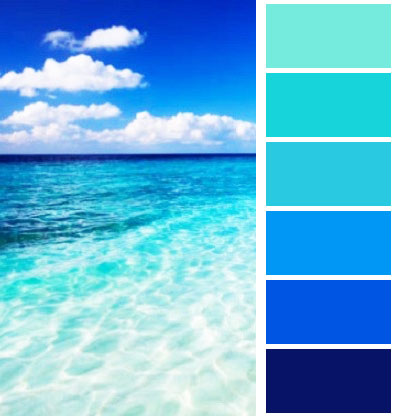 Palette colori per matrimonio a tema mare