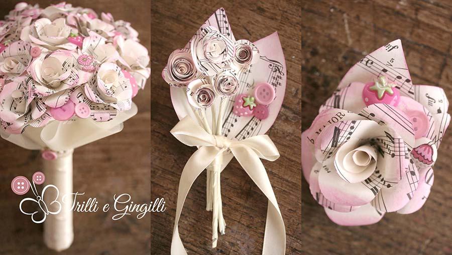 Matrimonio Tema Rose : Bouquet perfetti per un matrimonio a tema musica