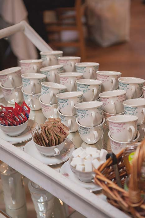Carrello tè e tisane per matrimonio