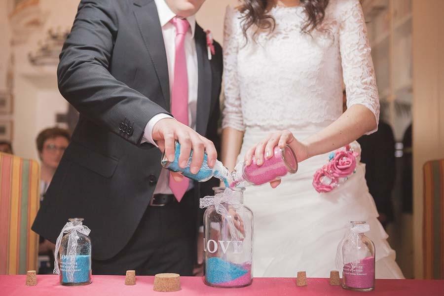 Cerimonia della sabbia per matrimonio