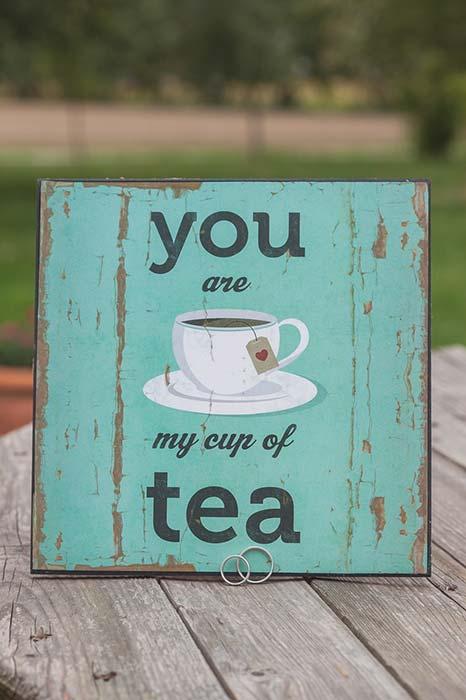 Fedi matrimonio a tema tè