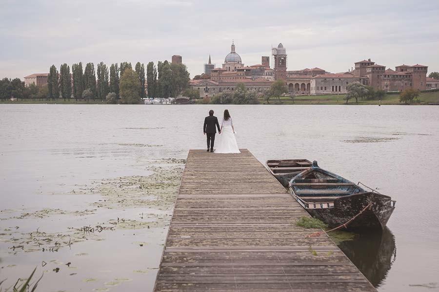 Sposi sul lago di Mantova