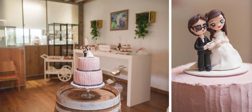 Torta matrimonio rosa