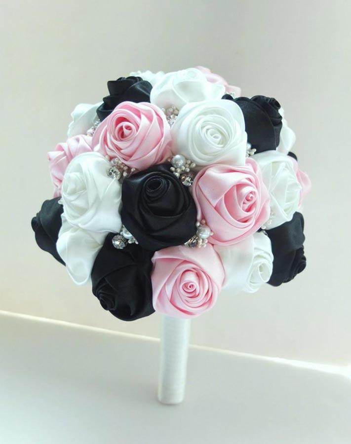 bouquet sposa rosa e nero