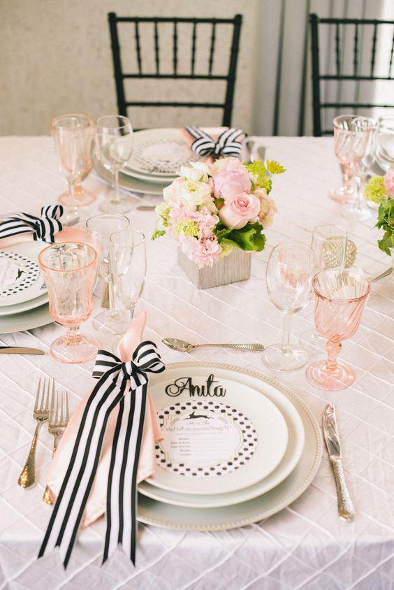 Matrimonio Tema Elegante : Tante idee chic per un matrimonio a tema rosa e nero