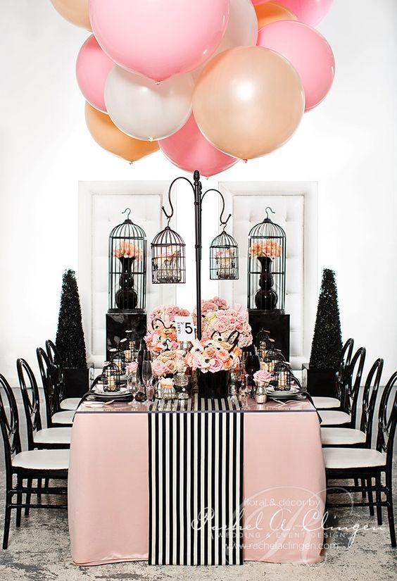 Matrimonio a tema rosa e nero tavola e allestimenti