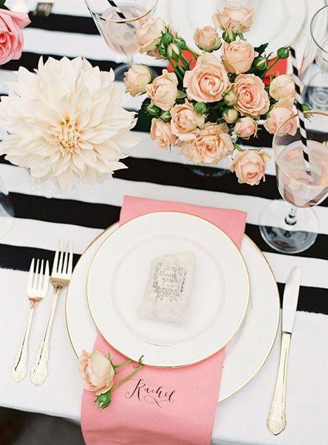 Allestimento Tavolo Bianco E Nero.Tante Idee Chic Per Un Matrimonio A Tema Rosa E Nero