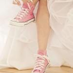 Scarpe da ginnastica per matrimonio rosa e nero