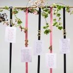 Tableau per matrimonio a tema nero e rosa