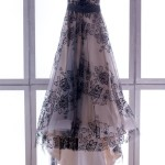 Vestito da sposa per matrimonio nero e rosa