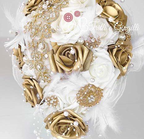 Bouquet color oro e bianco: una scelta eccentrica ma spettacolare!
