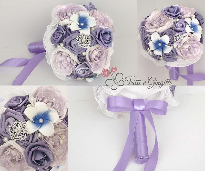 bouquet sposa originali peonie lilla