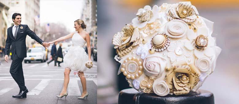 Bouquet sposa Roma oro e new york