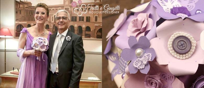 Bouquet sposa Roma viola originale