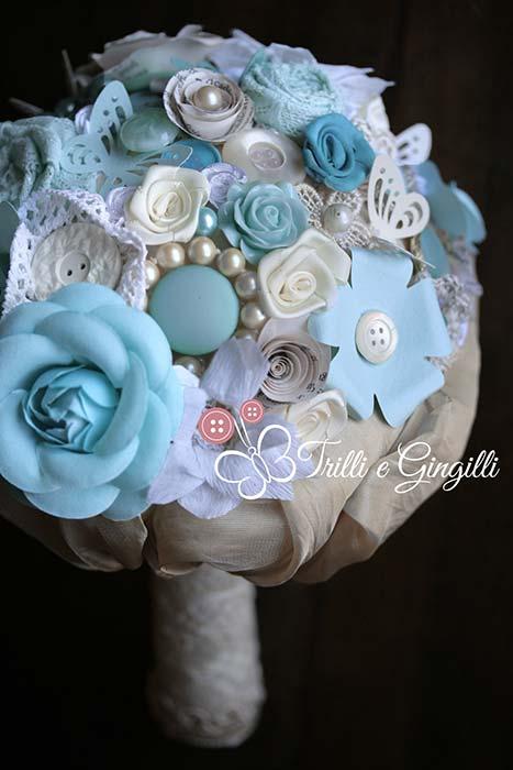 Bouquet originale serenity e azzurro