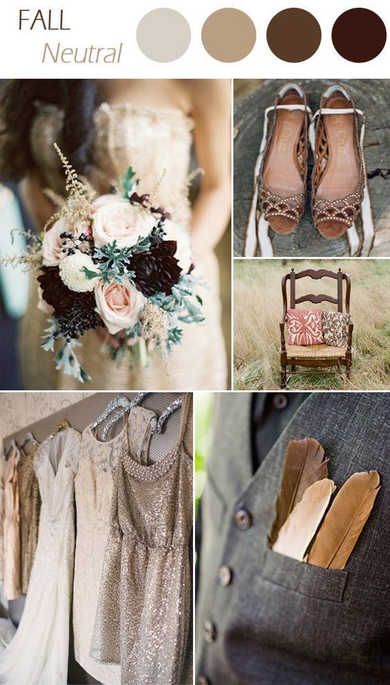 palette colori matrimonio settembre marrone