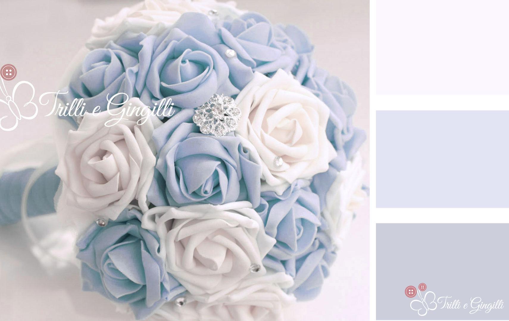 Matrimonio Bianco E Azzurro : Bouquet sposa serenity idee e spunti per usare il colore
