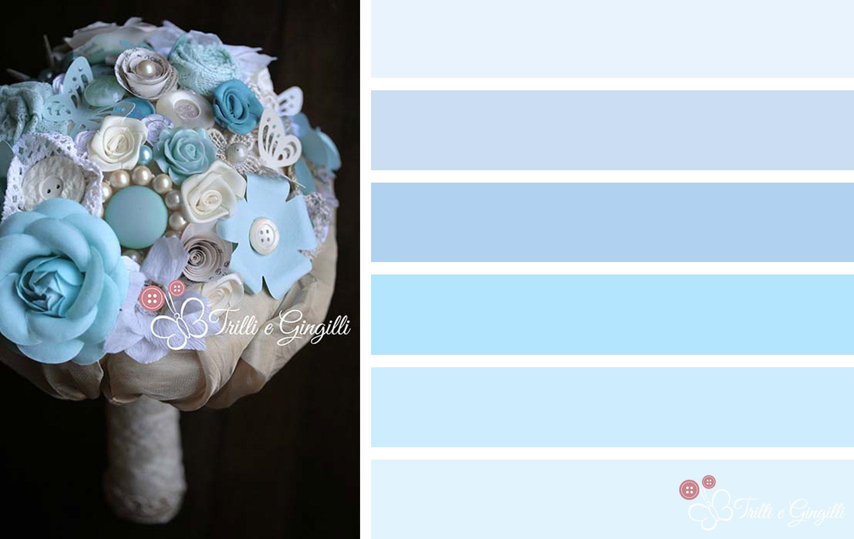 Matrimonio Colore Azzurro : Bouquet sposa serenity idee e spunti per usare il colore