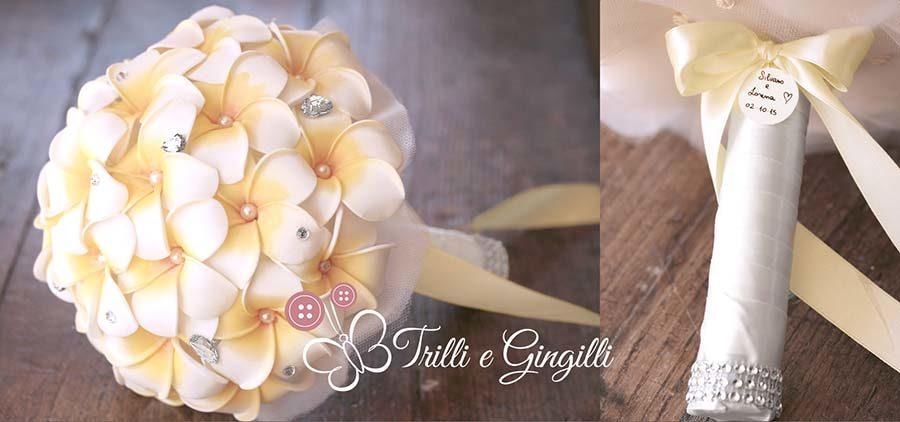 frangipani bouquet giallo