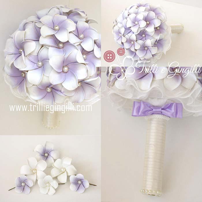 bouquet lilla frangipani