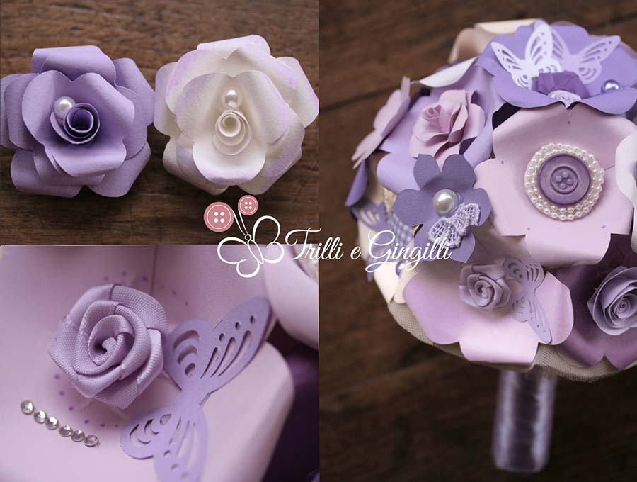 bouquet lilla viola carta