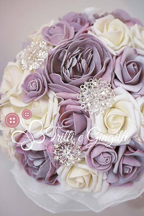 bouquet peonie lilla bianche