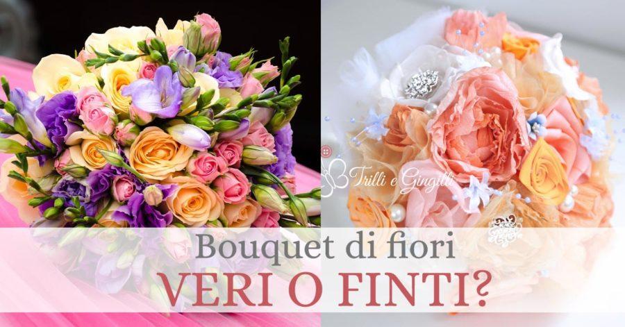 bouquet sposa fiori finti veri