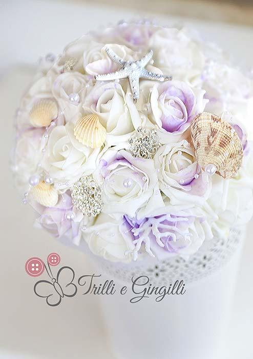 bouquet tema mare lilla