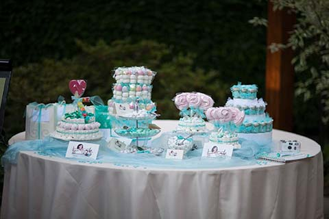 buffet di dolci matrimonio tiffany